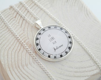 Personalized necklace in about 46cm I Love You
