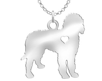 Labradoodle Necklace | Solid Sterling Silver | Labradoodle Silhouette Charm | Personalized Dog Jewelry | Dog Pendant | Labradoodle Earrings