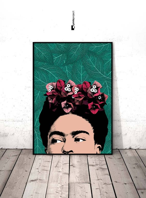 frida kahlo art poster frida kahlo frida kahlo portrait. Black Bedroom Furniture Sets. Home Design Ideas