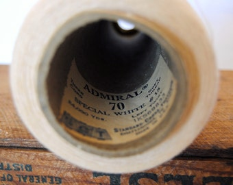 Vintage Special White Large Thread Spool Cone