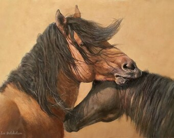 """Horse Painting, Western Art, Horse Oil Painting, Horse Art, 8x12"""", """"Kiger Beauty"""""""