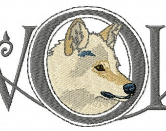 WOLF WORD - Machine Embroidery Design