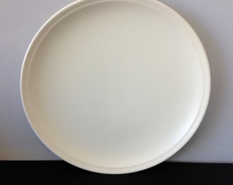 "Gladding McBean 14"" Ivory Chop Plate"