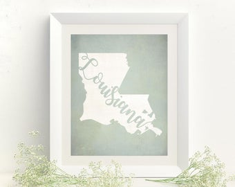 Louisiana Art - Louisiana Print - Louisiana - Louisiana Map - Louisiana Wall Art - Louisiana Decor - Louisiana Art Print - Louisiana Poster