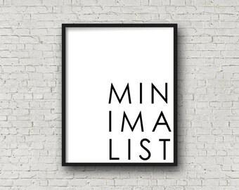 Minimalist (5x7, 8x10, 11x14 Prints Included!), Minimalist Decor, Black And White Art, Minimalist Wall Art, Modern Home Decor, Printable Art