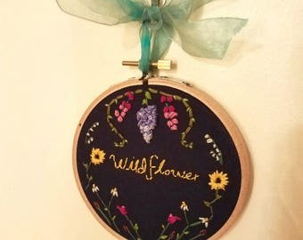 Wildflower Embroidery Hoop