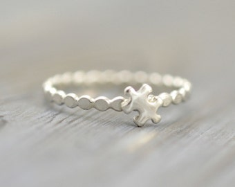 Puzzle ring, Dainty cute ring, Puzzle piece jewelry, Puzzle piece ring, Autism Awareness, Tiny Puzzle ring, Solid 925 Sterling silver ring