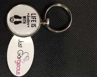 Life Is Better With Cats Keyring