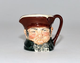 Vintage Royal Doulton Toby Jug Miniature Ashtray Old Charley Character