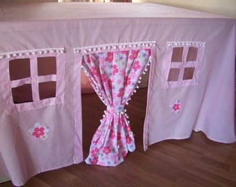 Playhouse,  Tent,Fort, Tablecloth playhouse, Fabric Playhouse , Tablecloth Playhouse, playhouse, indoor/outdoor playhouse