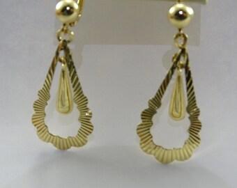 18K Gold Dangle Earrings (pierced)