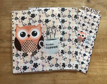 Owl happy planner covers. Mini happy planner. Classic happy planner. Coffee theme. Planner supplies. Planner accessories. Dashboard