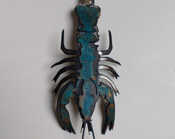 Patina Crawdad Ornament