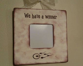 Frame/ We have a winner!/ New Baby Frame/Pregnancy Frame/ Sono Frame/ Grandparent Frame/ Announcement Frame