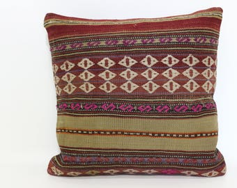 wool pillow16x16 bohemian pillow 16x16 tribal pillow turkish  Pillow Aztec Pillow anatolian pillow coussin pillow ethnic pillow SP4040-2200