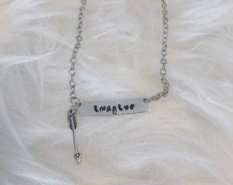 Handstamped Necklace