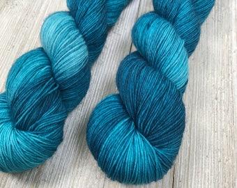 Marena - Sweet Sock - Indie Sock Yarn, Indie Dyed Yarn, Blue Sock Yarn, Hand Dyed Yarn, Sock Yarn, Indie Tonal Yarn