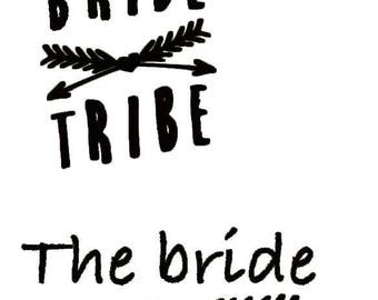 Golden bride and temporary tattoo tribes or color of your choice.  6 + 1 tribe Tattoo Tattoo bride