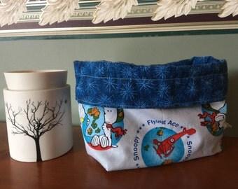 Sale!! Red Baron drawstring bag -medium
