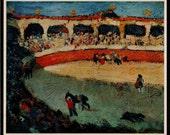 PICASSO 1946 Lithograph +COA Course de Taureaux 1901 Pablo Picasso Rare Art Print.  Unique Gift Idea of Extremely Rare Art. Free Shipping