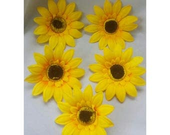 10pcs 15cm Sunflower Flower Heads Yellow Sunflower Head Yellow Flower Heads Yellow Artifical Flower Head