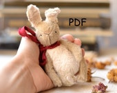 Pattern rabbit and cat Teddy 12 cm (4,72 inch), pattern bunny,sewing tutorial,pattern teddy, pattern toy