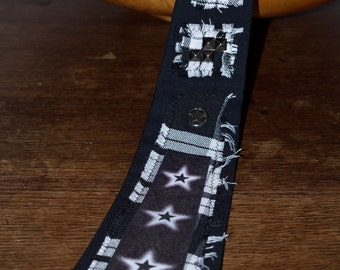 Black Star - Novelty Tie - Mens Accessories - Alternative Clothing - Mens Gifts - Tartan Clothing - Punk Accessories