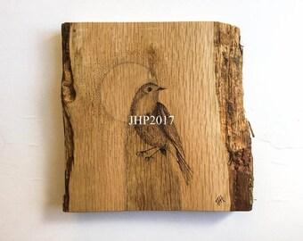 Brandmalerei Kunst Robin Vogel, Woodburned Dotwork Funktion Wand Kunst  Robin Vogel, Original Signierte Eines