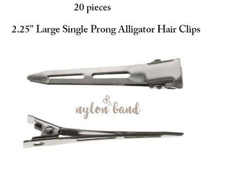 Large Single Prong Alligator Hair Clips 2.25'' / The best alligator clip
