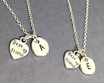 Best Friends Necklaces - Set of Two Friendship Necklaces, Bff Charm, Best Friend,Friend Gift, Best Friend Jewelry, Custom, Personalized BFF