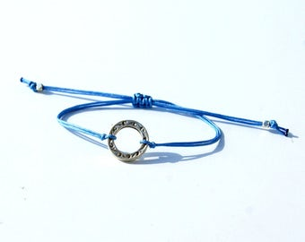 Karma bracelet, Circle charm,Karma charm bracelet, Circle bracelet,Karma charm,circle charm bracelet,Yoga jewelry,Friendship bracelet