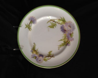 "Royal Doulton 'Glamis Thistle' Dinner Plate 10 5/8""- signed P Curnock; New Vintage"
