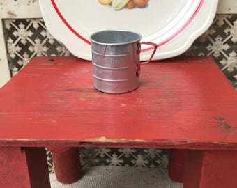 Cute Little 1950's Child's Aluminum Measuring Cup