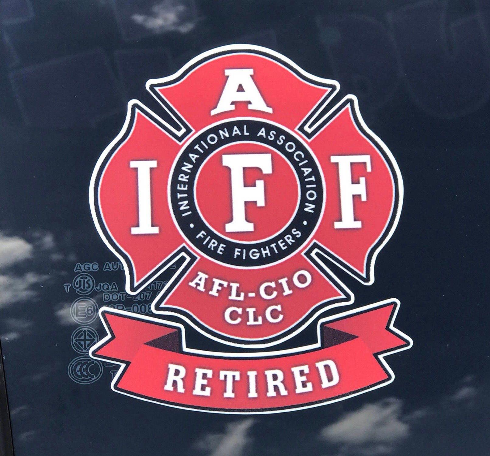 IAFF, Fire Fighters Retired Maltese Cross IAFF Logo Decal