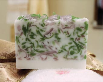 Lavender Shreds Soap Bar, Handmade Soap, Glycerin Soap, Lavender Soap, Moisturizing Soap, Decorative Soap, Soap Slice, Gift for Her Soap