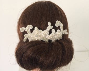 Beaded Lace Bridal Hair Comb
