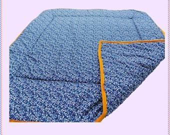 childrens playmat by chookeys blue star midnight sky design