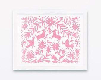 Otomi, Nursery Wall Decor, Nursery Wall Art, Otomi Print