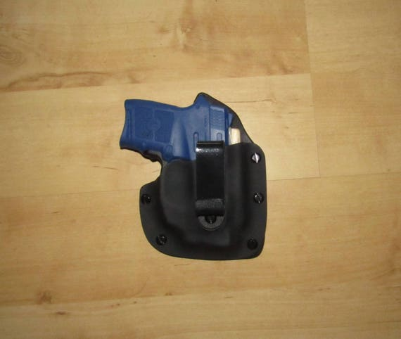 Leather and Kydex Hybrid Holster for the NeW Bodyguard 380 with Crimson Trace GREEN Laser, EDC, IWB