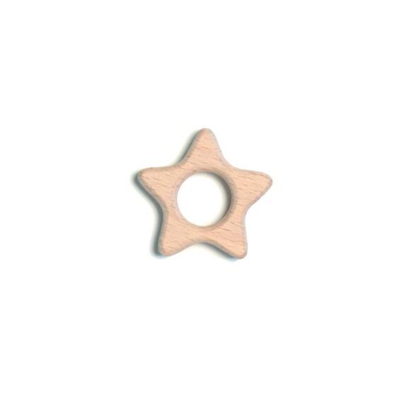 Wood star teether (wood star teether)