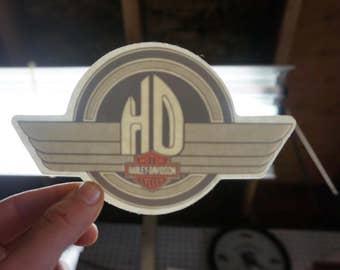 HD Harley Davidson Iron Wings Window Decal