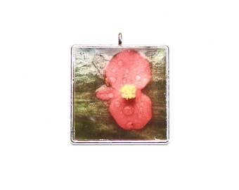 Scarlet Begonia Pendant