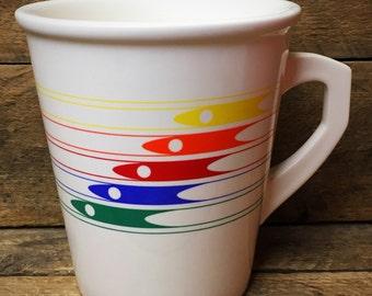 Vintage FTD 1986 Rainbow Tall Mug - Made in Japan