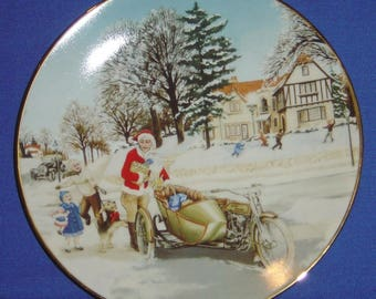 A Surprise Visit - Harley-Davidson® Christmas Collector's Plate (1992) (JVM)