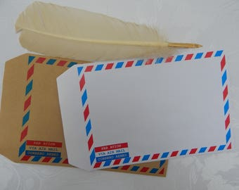 C5 Air Mail Border Self Seal Envelopes (Pack of 50)