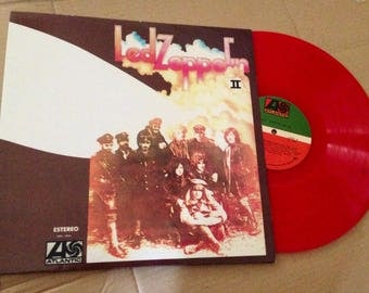 Vintage • Led Zeppelin II • Red Vinyl • Rare Mexican Impression • 1981 Reissue • Excellent Condition