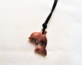 Hand Carved Dolphin Pendant