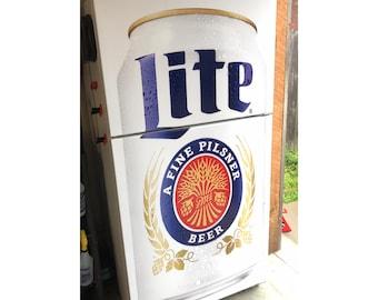 Miller Lite Fridge Wrap Man Cave / Old fridge