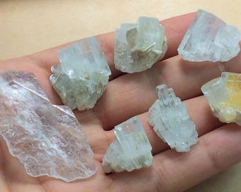 7 Pieces Natural Aquamarine Crystals