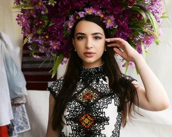 Made to order, vyshyvanka maxi dress, ukrainian embroidery, boho chic style, ukrainian dress, bohemian style, embroidery dress